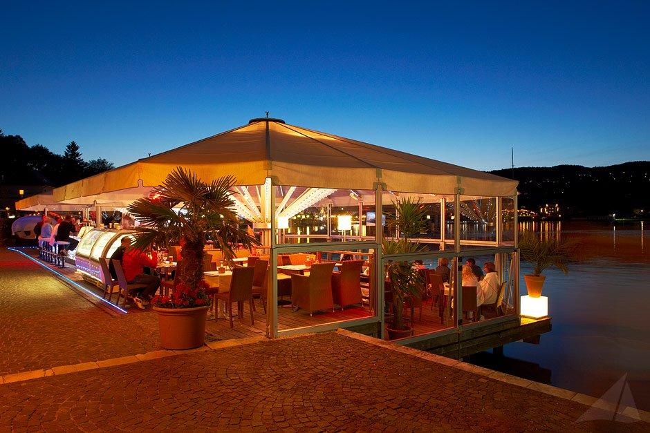 Allwetter Seeterrasse Hotel Restaurant Veldener